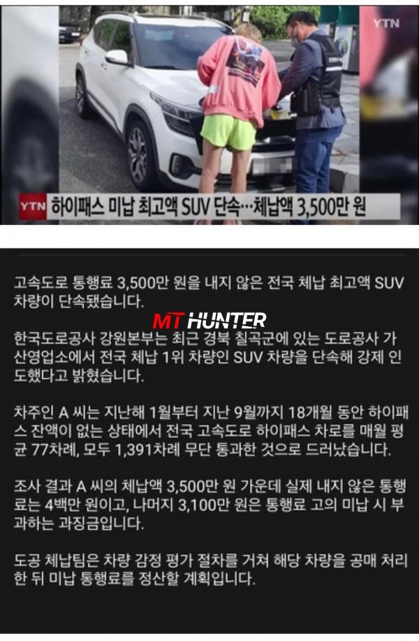 체납액 3500만원